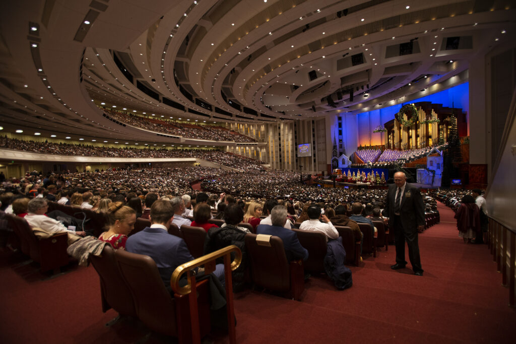 The First Presidency ChristmasDevotional of The Church of Jesus Christ of Latter-day Saints at the Conference Center in Salt Lake City on Sunday, Dec. 8, 2019.