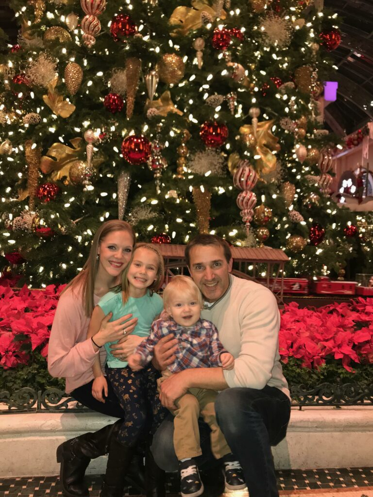 The Sandou family at the Bellagio in Las Vegas in December 2019.