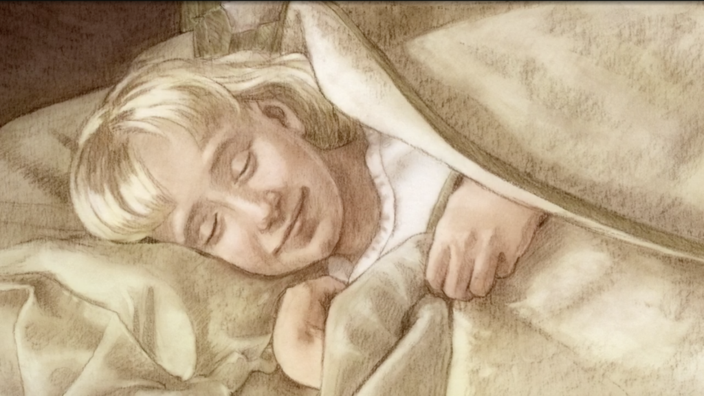An illustration was shown during a story President Dallin H. Oaks shared during the First Presidency Christmas Devotional in the Conference Center in Salt Lake City on Sunday, Dec. 8, 2019.