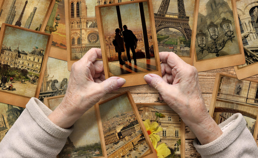 Our memories, in a sense, allow us to revisit those moments in the past that have shaped us, taught us and made us who we are. Credit: Shutterstock