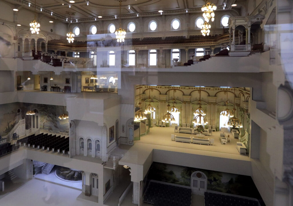 The Salt Lake Temple will close on Dec. 29 for extensive renovations. A model of the Temple is on display at the Temple Square South Visitors Center in Salt Lake City on Wednesday, Dec. 4, 2019.
