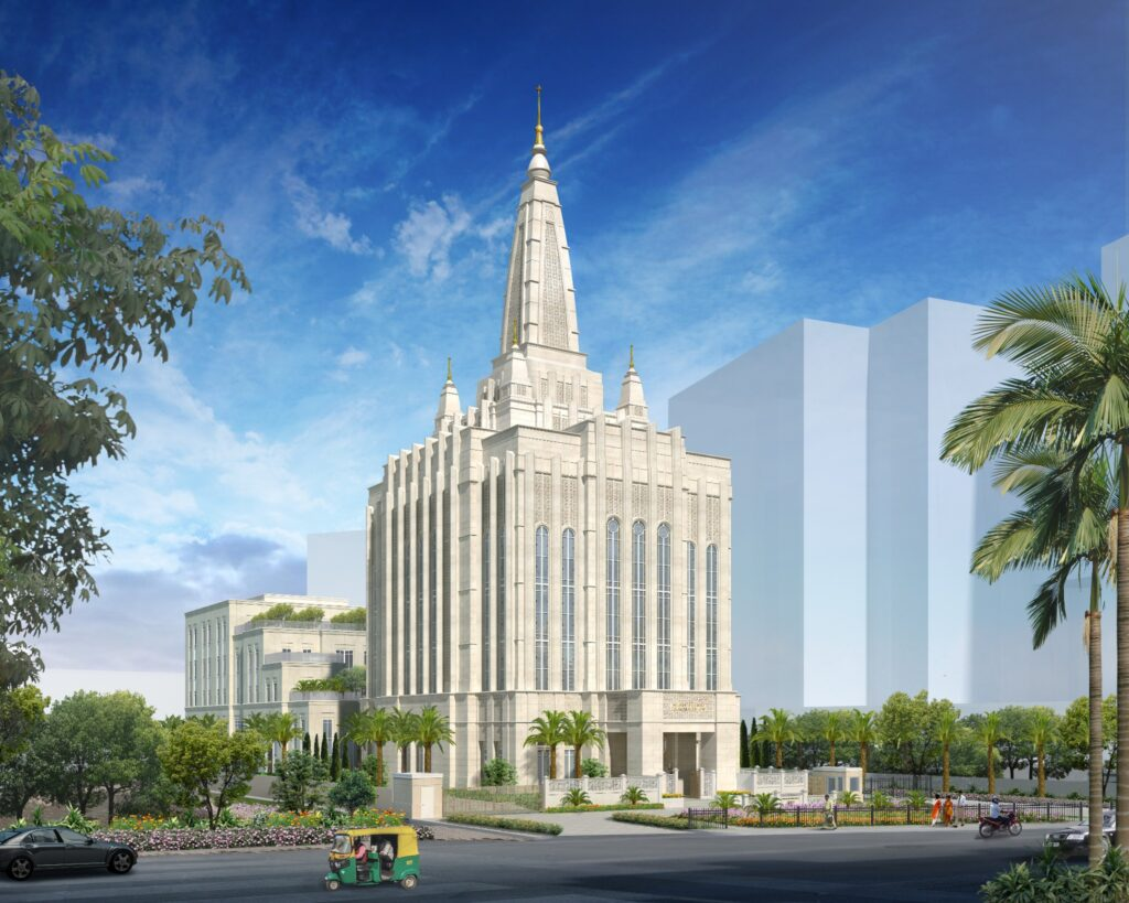 Rendering of the Bengaluru India Temple.