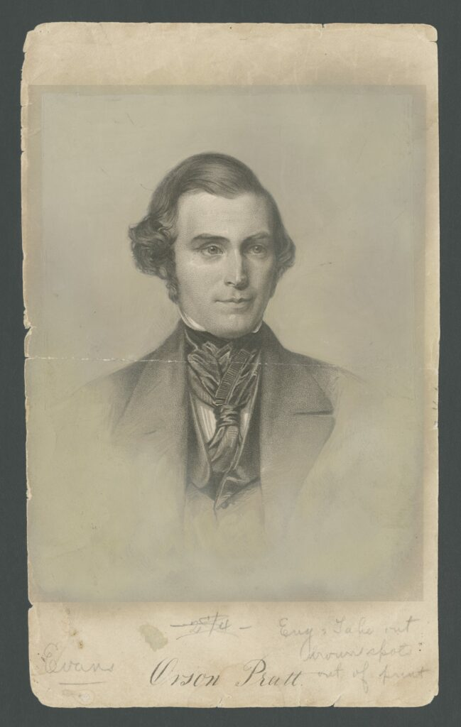 """Orson Pratt of the Quorum of the Twelve Apostles authored the earliest published account of Joseph's First Vision of Deity in this pamphlet in Edinburgh, Scotland, in 1840. The pamphlet is on display as part of the Church History Library's """"Foundations of Faith"""" exhibit."""