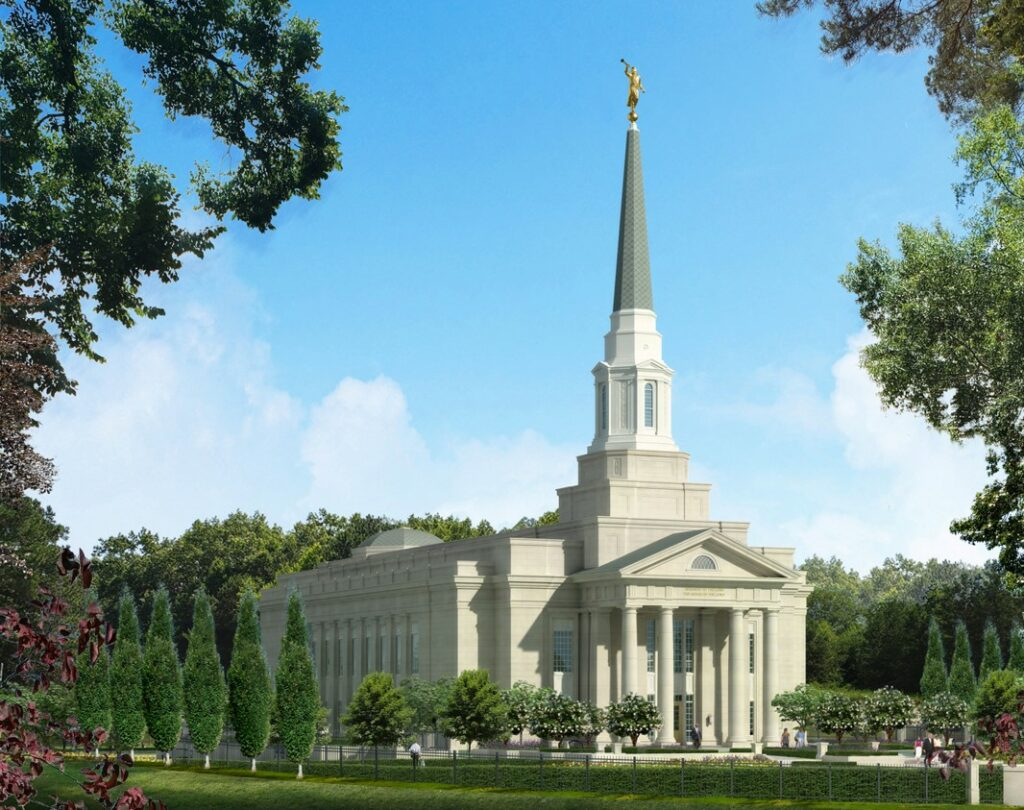 A rendering of the Richmond Virginia Temple.