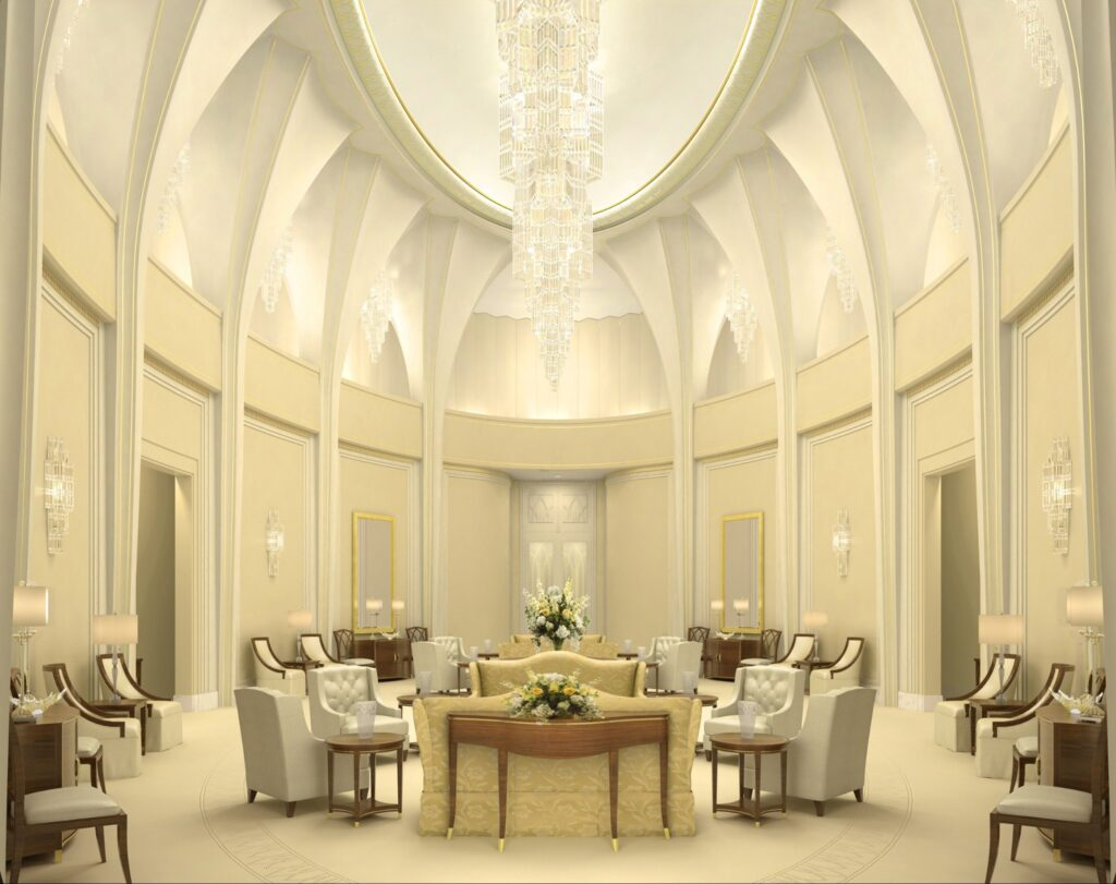 A rendering of the celestial room of the Washington D.C. Temple.