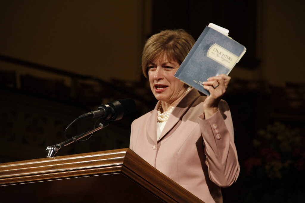 Julie B. Beck speaks at Men and Women of Faith Lecture Series sponsored by Church History Library on March 15, 2013.