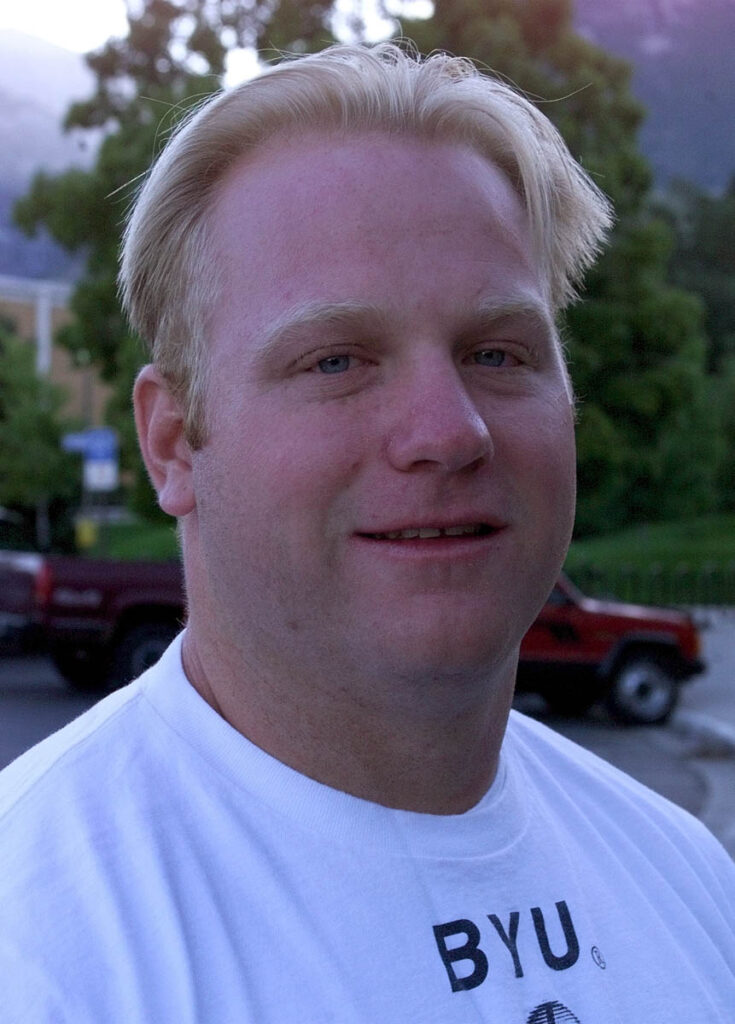 Chris Hoke at BYU during the late 1990s.