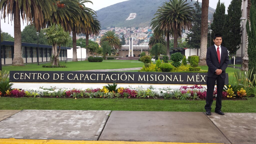 The first elder to arrive at the newly expanded Mexico Missionary Training Center in late June 2013 in Mexico City, Mexico.