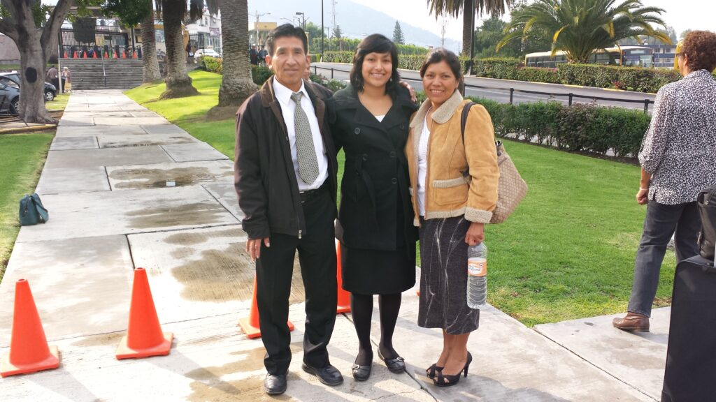 The first missionary to arrive at the newly expanded Mexico Missionary Training Center in late June 2013 was a local sister missionary, shown here being dropped off by her parents.