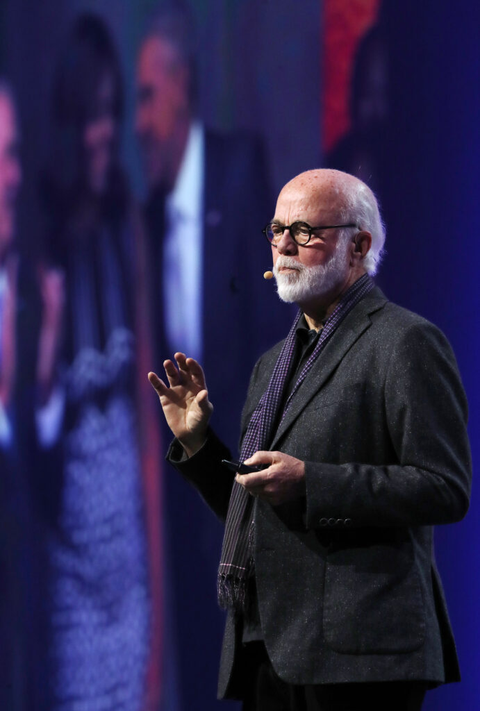 Photographer David Hume Kennerly delivers the keynote at RootsTech discussing his life's work at the Salt Palace Convention Center in Salt Lake City on Friday, Feb. 28, 2020.