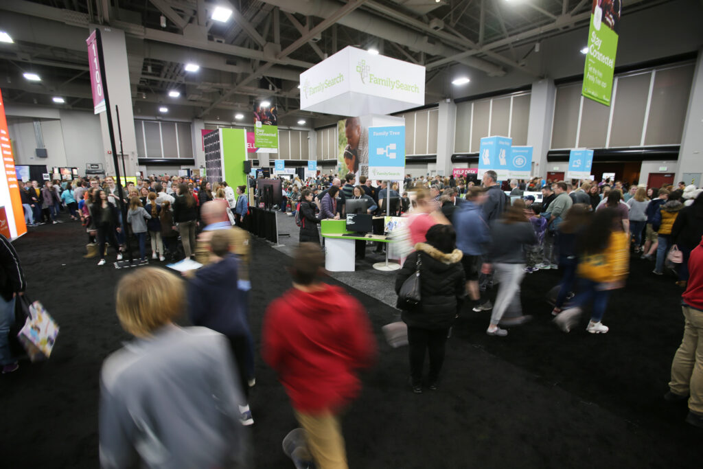 Thousands attend the RootsTech youth night at the Salt Palace in Salt Lake City on Wednesday, Feb. 26, 2020.