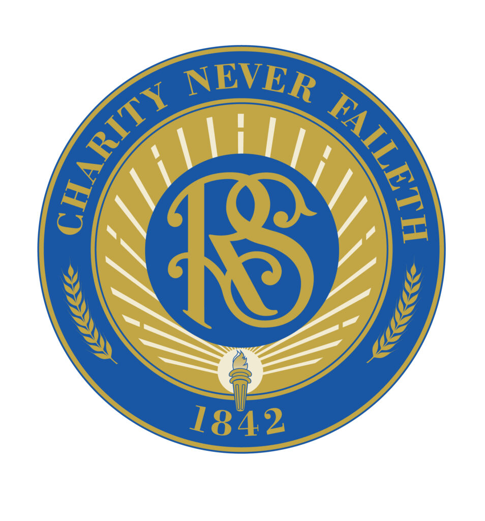 Relief Society seal with its motto 'Charity Never Faileth'
