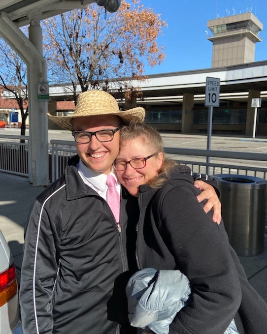 Elder Stephen Brousseau from the Philippines Laoag Mission is welcomed home March 22, 2020, by his mother, Tracy Brousseau.