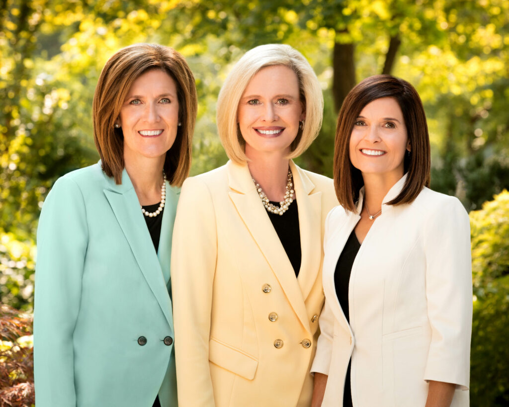 The Young Women general presidency: from left, Sister Michelle D. Craig, first counselor; President Bonnie H. Cordon and Sister Becky Craven, second counselor.