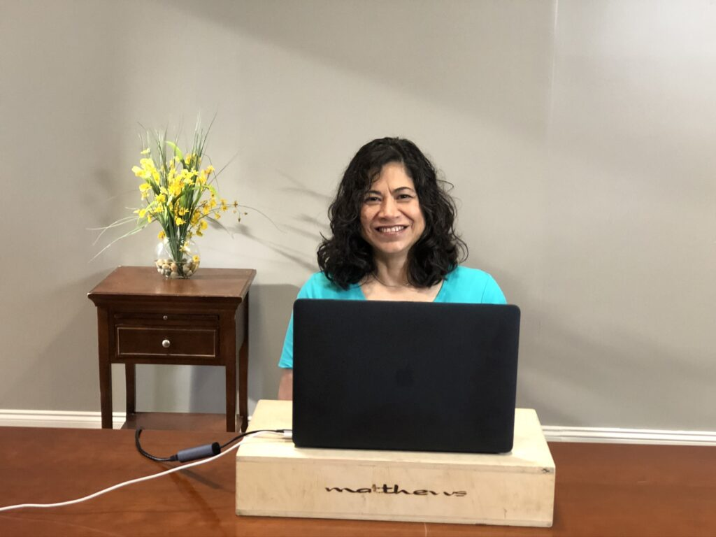 Sister Reyna Isabel Aburto participates in the Sister to Sister event featured during the BYU Women's Conference digital event on Friday, May 1, 2020.