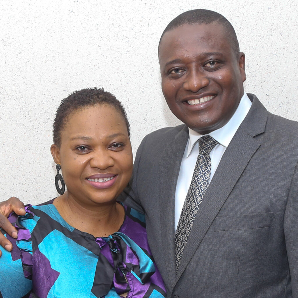 Elder Adeyinka A. Ojediran and Sister Olufunmilayo Omolola Ojediran are both converts to the Church who find weekly strength in taking the sacrament.