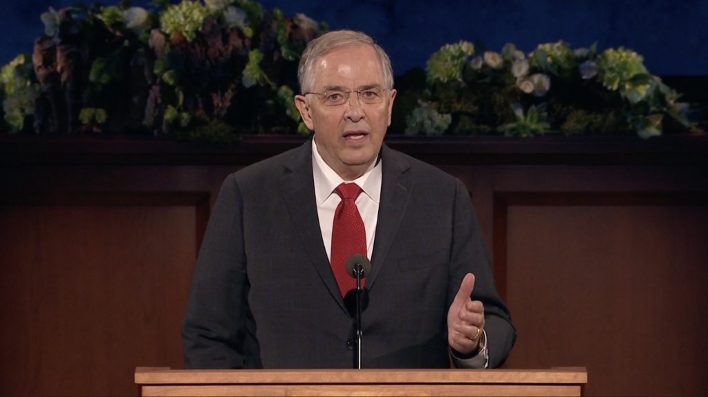 Elder Neil L. Andersen of the Quorum of the Twelve Apostles during the 190th Annual General Conference on April 4, 2020.