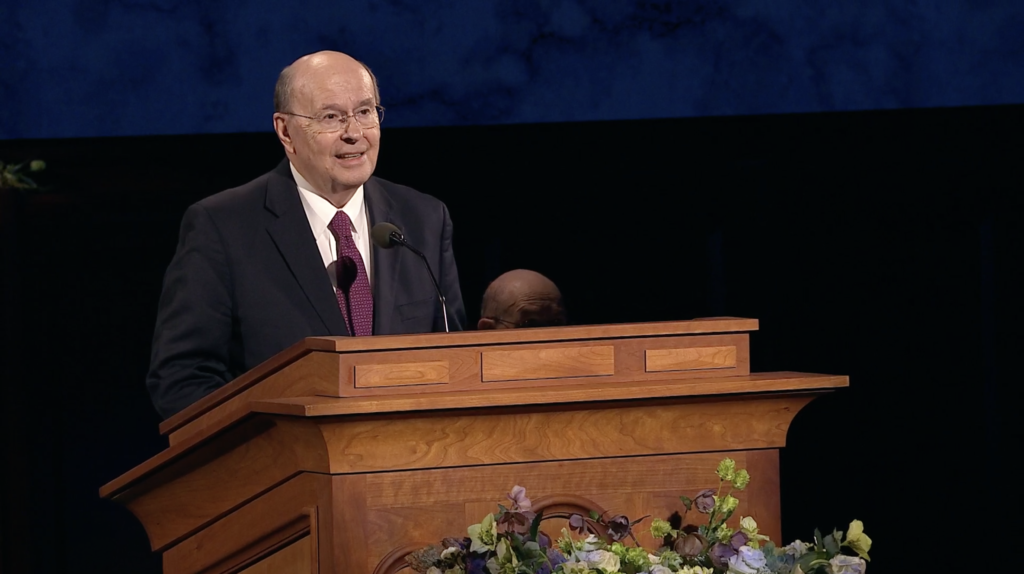 Elder Quentin L. Cook speaks during the Sunday afternoon session of the 190th Annual General Conference on April 5, 2020.