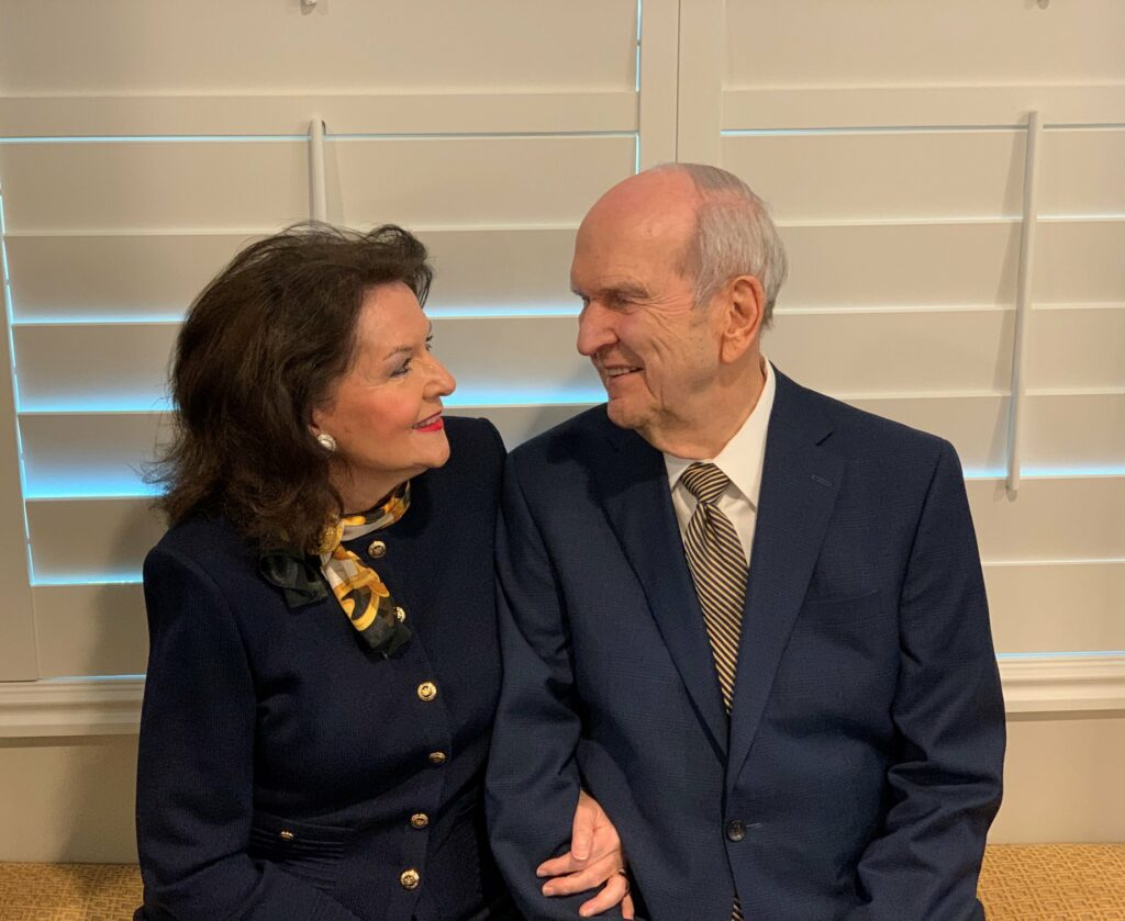 President Russell M. Nelson and his wife, Sister Wendy Nelson. In a social media post on May 28, President Nelson emphasized the importance of the sacrament during the COVID-19 pandemic.