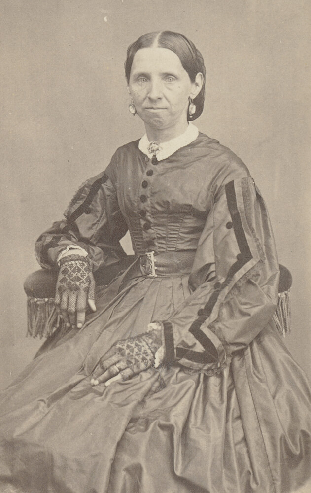 Sarah Ann Whitney. Circa 1867. Sarah Ann Whitney was sealed to Joseph Smith as a plural wife on July 27, 1842. The ceremony was performed by her father, Newel K. Whitney, and witnessed by her mother, Elizabeth Ann Smith Whitney. Unlike some other individuals involved in plural marriage, who destroyed records about the practice, Whitney and her parents preserved materials related to her plural marriage to Smith, including letters, blessings, and the revelation Smith dictated with the language for the sealing.