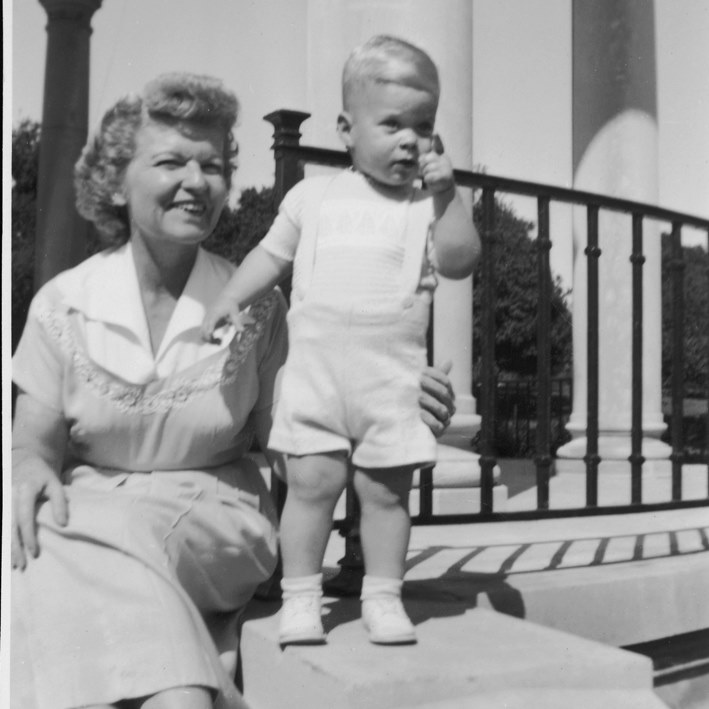 Elder David A. Bednar posted this picture with his mother on Facebook on May 12, 2019.