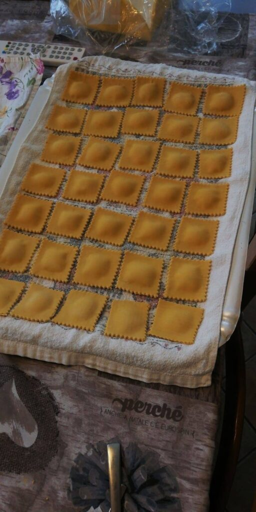 18-year-old Giulia Chiuchiolo learned how to bake raviolis with her extra time during quarantine.