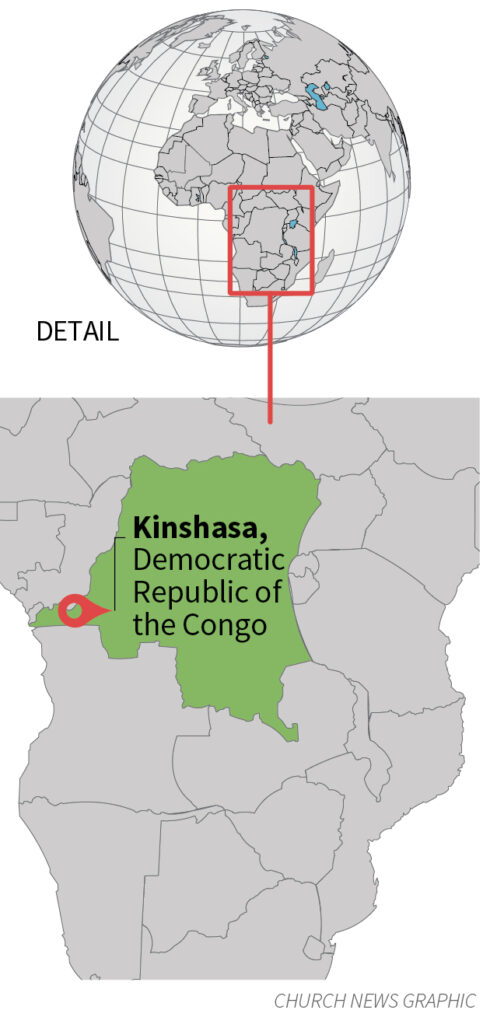 Church News graphic map of the Democratic Republic of the Congo.