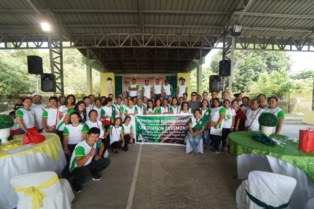 Farm School graduation in Gutad, Floridablanca, Pampanga, Philippines, where more than 90 students graduated in August 2019. RiceUp now has 93 farm schools in five different countries.