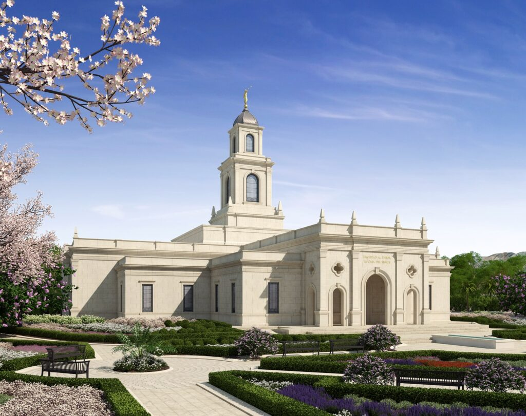 A rendering of the Salta Argentina Temple.