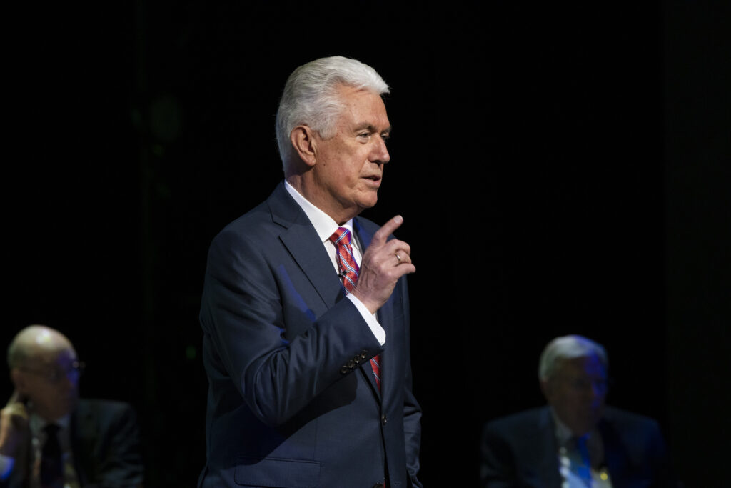 Elder Dieter F. Uchtdorf of the Quorum of the Twelve Apostle and chairman of the Church's Missionary Executive Council, speaks Friday, June 26, during the 2020 Mission Leadership Seminar. New mission leaders participated in the seminar via technology.