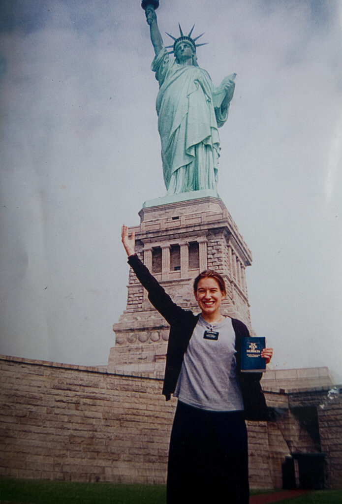 Eva Koleva as a young missionary in New York City.