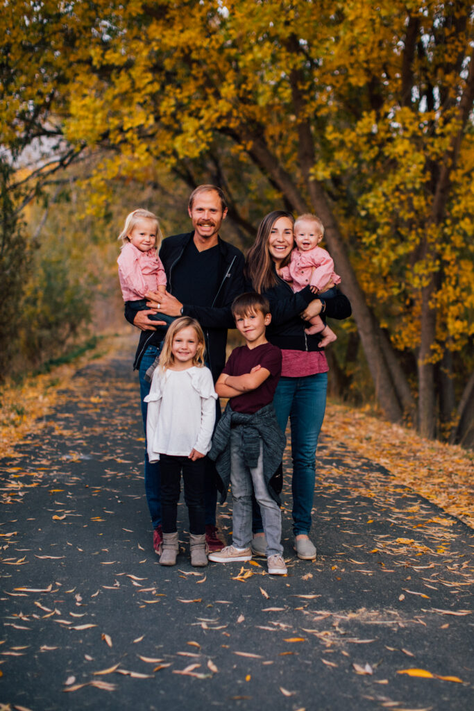 Jared and Erica Ward with their four children, ages 7, 5, 2 and 5 months.