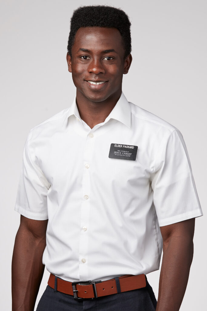 The First Presidency announced approved missionary attire exceptions for elders, including white or blue shirts and with or without ties, as pictured here. The standard continues to be a white shirt and tie and, in some areas, a suit coat. The announcement was made June 12, 2020.