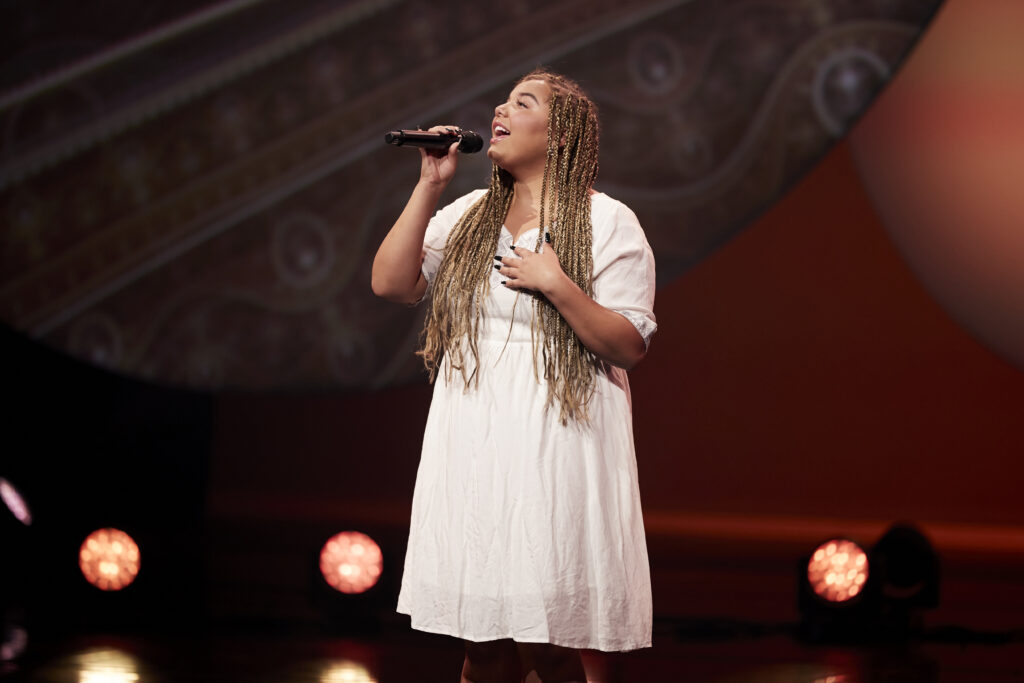 "Aaliyah Rose performs ""Like Him"" during the virtual Youth Music Festival broadcast on Wednesday, July 29, 2020."