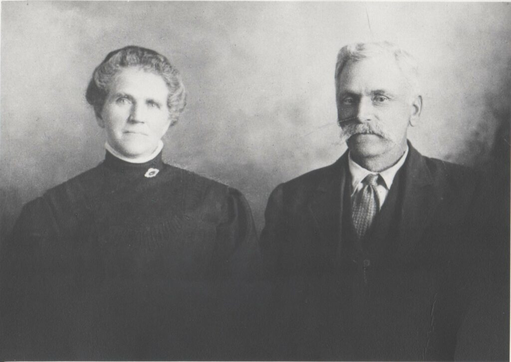 Primary General President Joy D. Jones' third-great grandmother Helen Adelia Gibson Ellsworth with her husband, Brigham Henry Ellsworth.