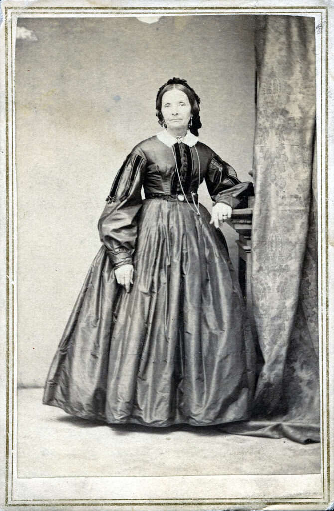 Studio portrait of Eliza R. Snow by Savage and Ottinger, circa 1862–1872