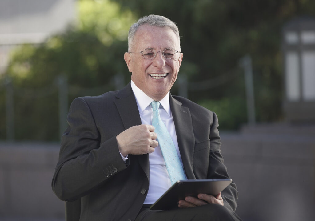 Elder Ulisses Soares, of The Church of Jesus Christ of Latter-day Saints' Quorum of the Twelve Apostles, is interviewed at the Conference Center in Salt Lake City on Tuesday, June 23, 2020.