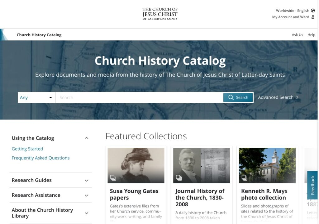 Earlier this month, the Church History Catalog added a feature that enables users to easily attach a source to an ancestor's page on FamilySearch.