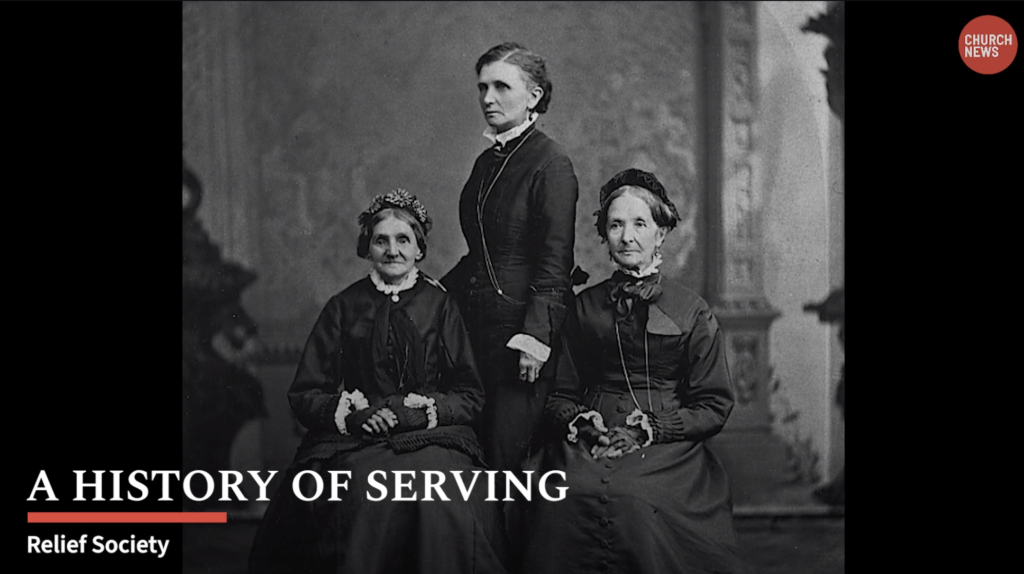 """A new Church News video, """"A History of Serving,"""" highlights the history of women in The Church of Jesus Christ of Latter-day Saints."""