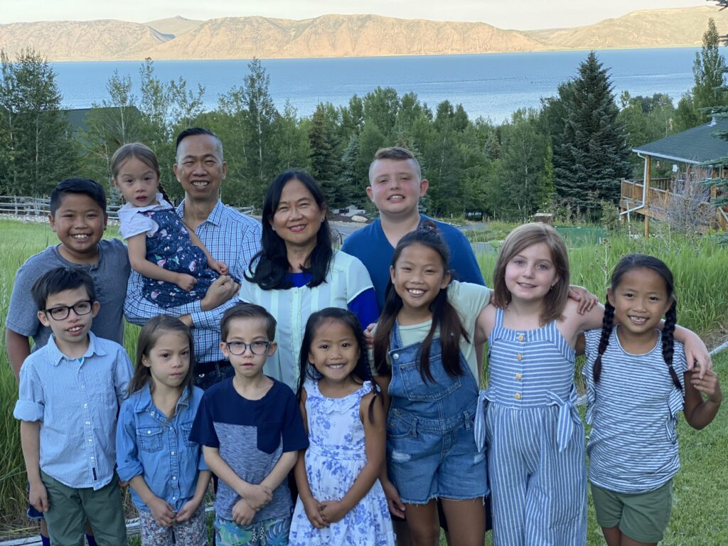 Memnet and Marlo Lopez with their grandchildren at Bear Lake in July 2020.