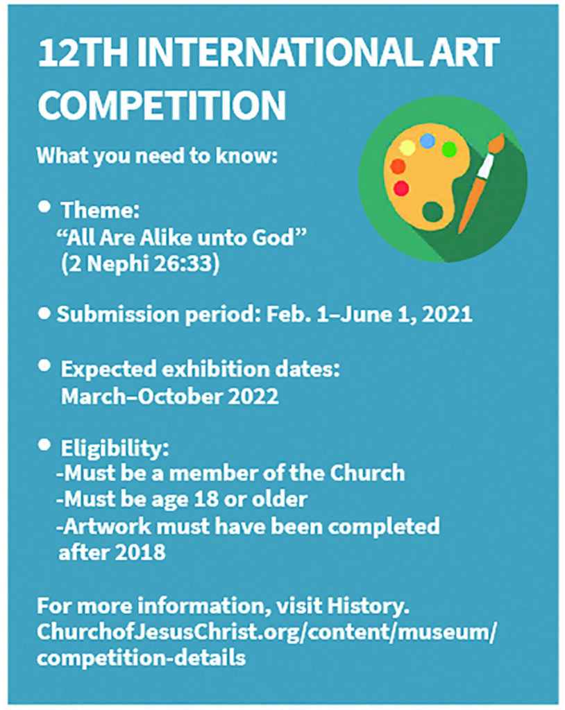 Quick facts for the Church History Museum's 12th International Art Competition.