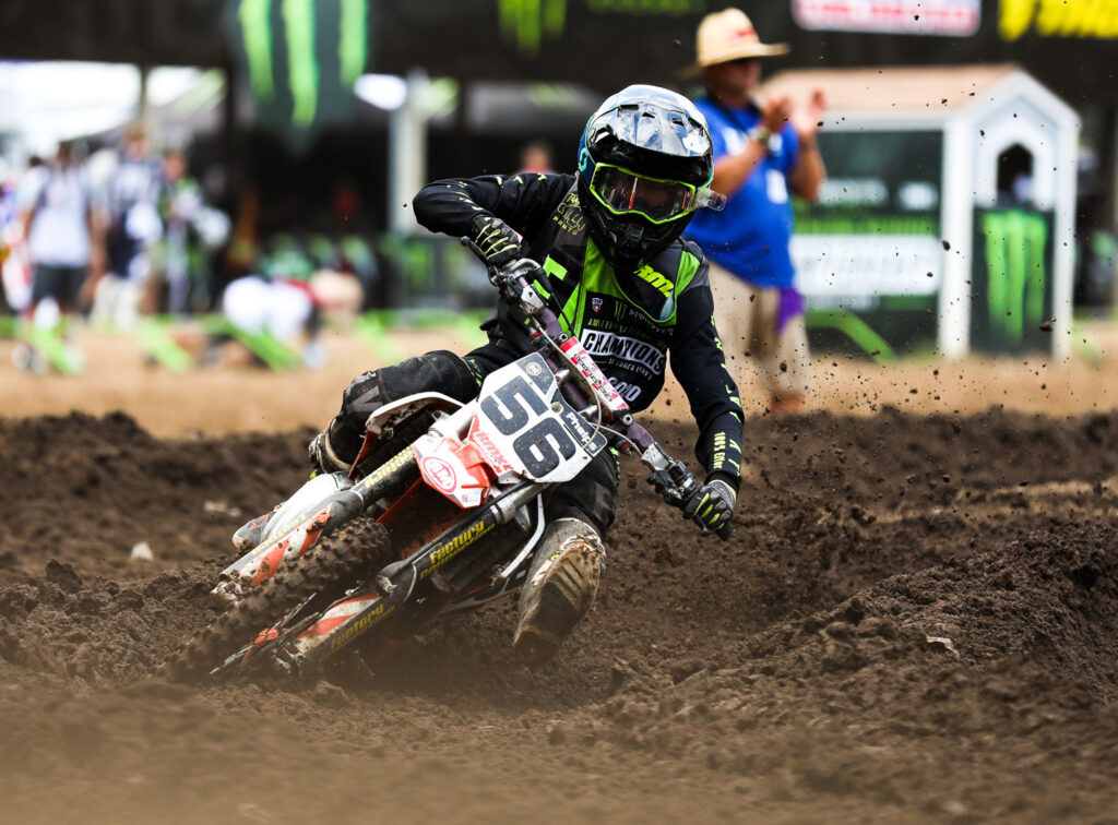 Latter-day Saint motocross racer Sophia Phelps, 17, competes at recent amateur national championship in Tennessee. Sophia is a member of the seminary council at Utah's Dixie High School.