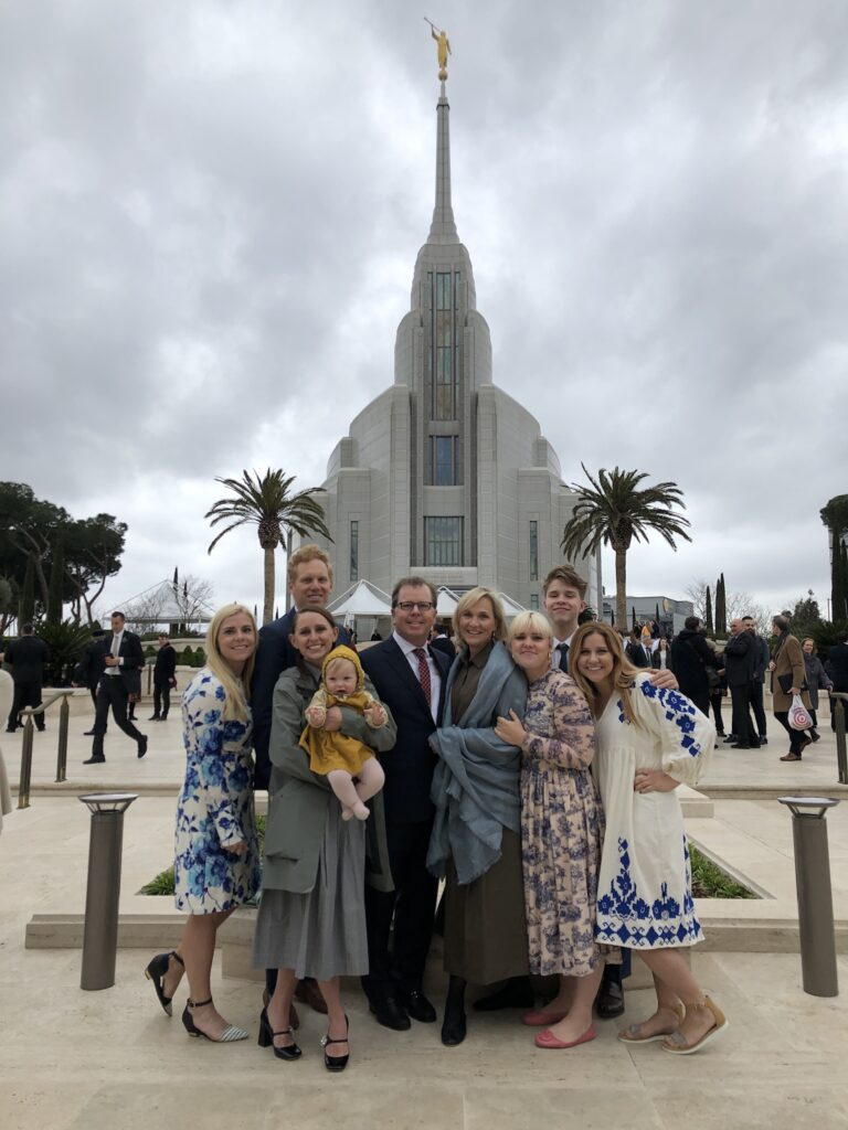 The Ivory Family at the Rome Italy Temple Dedication.