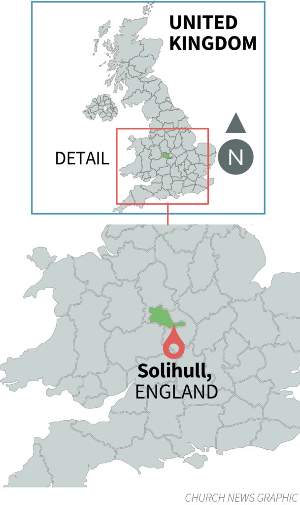 Location of Solihull England