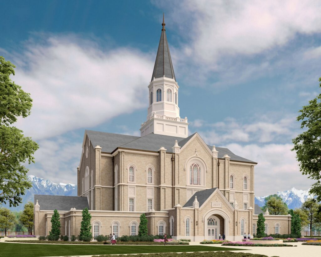 A rendering of the Taylorsville Utah Temple
