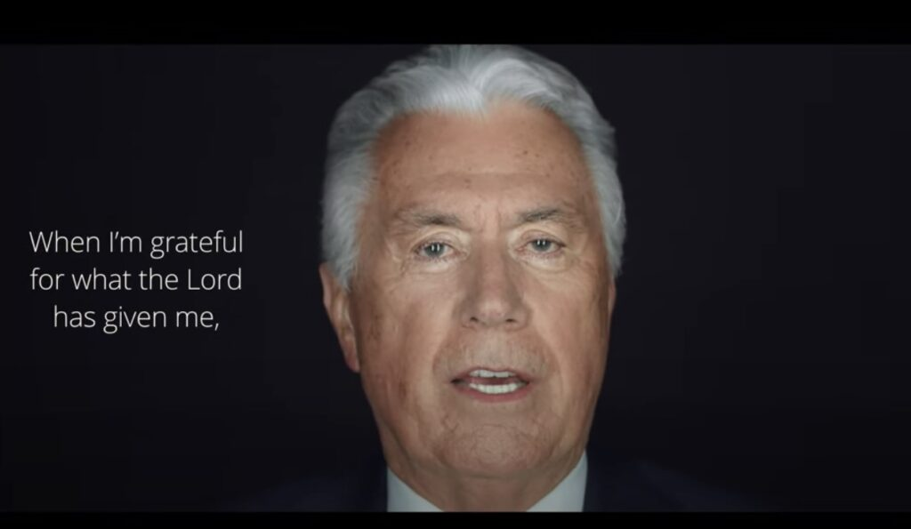 In the latest #HearHim video released on Sept. 4, Elder Uchtdorf testified of the power that comes when reflecting on the Lord's love in seeking to hear His voice.