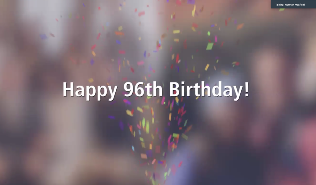 A birthday celebration for President Russell M. Nelson, held via video conferencing on Sunday Sept. 6 — three days before his Sept. 9 birthday — included 276 participants in 61 locations.