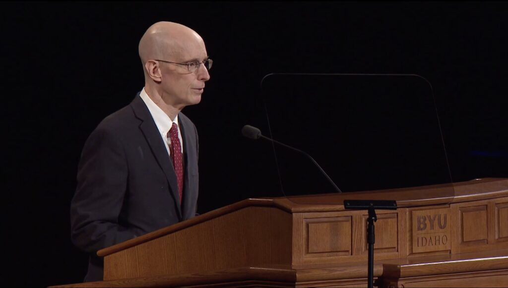 President Henry J. Eyring speaks during a prerecorded BYU–Idaho devotional released on Sept. 15, 2020.