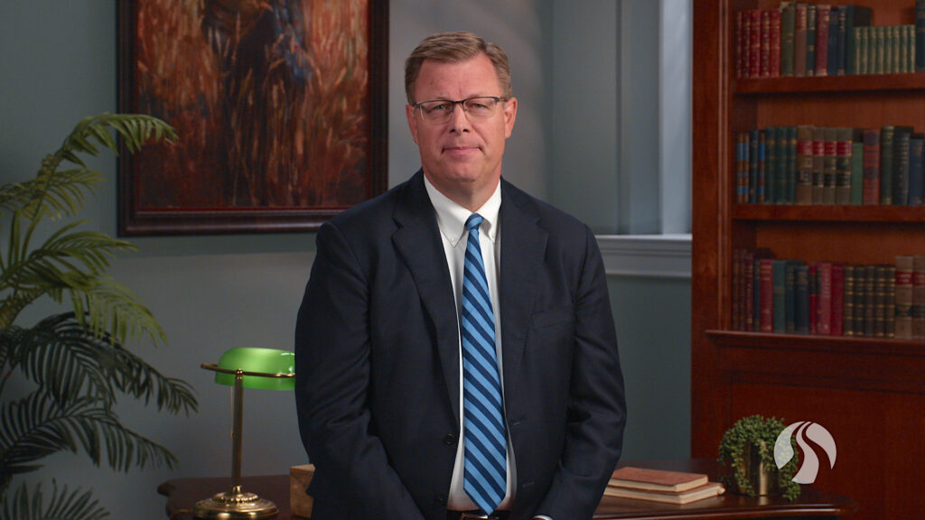 BYU-Pathway Worldwide President Clark G. Gilbert speaks to students and faculty in an online devotional broadcast on Sept. 22, 2020.