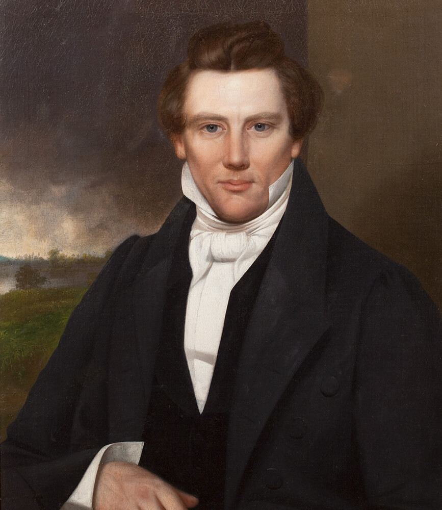 Portrait of Joseph Smith, September 1842.